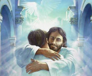 Jesus abraçando